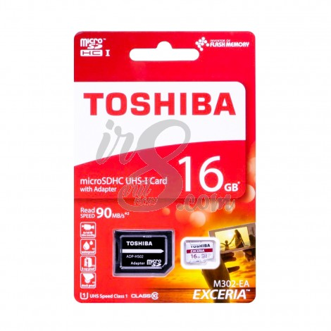 MEMORY CARD TOSHIBA MICRO SD 16GB 90 MBPS CLASS 10