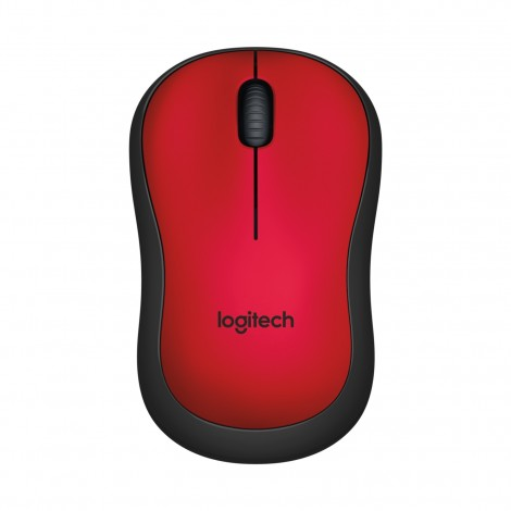 MOUSE WIRELESS LOGITECH M221 SILENT RED