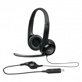 HEAD SET LOGITECH H 390 BLACK