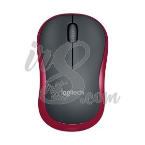 MOUSE WIRELESS LOGITECH M185 RED
