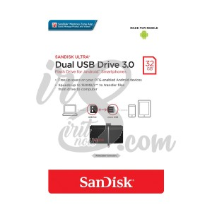 FLASH DRIVE SANDISK 32 GB DUAL DRIVE 3.0 BLACK