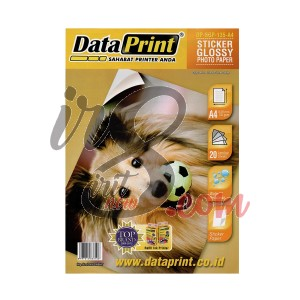GLOSSY FOTO STICKER DATA PRINT 135GR A4