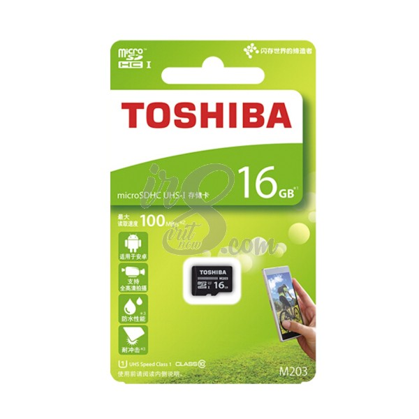 MEMORY CARD TOSHIBA MICRO SD 16GB 100 MBPS CLASS 10