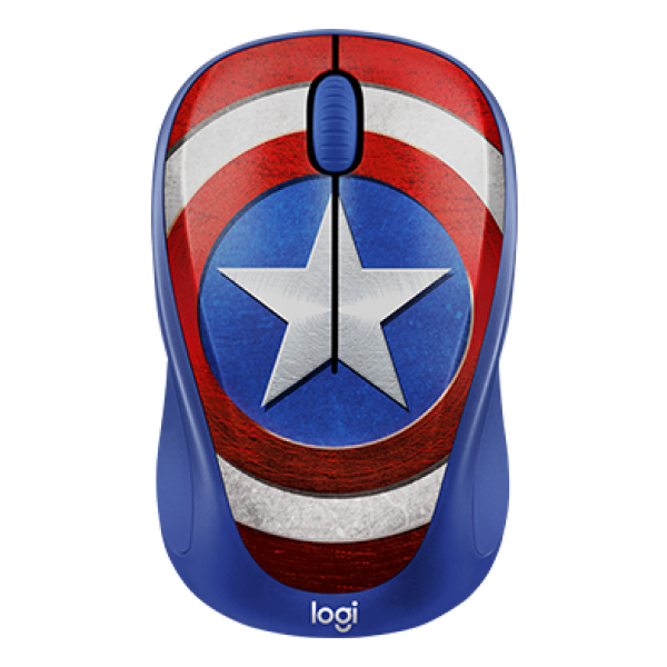 MOUSE WIRELESS LOGITECH M238 MARVEL SERIES CAPTAIN AMERICA